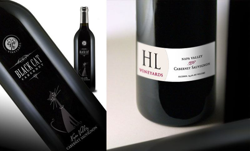 EMH Vineyards / HL Vineyards Label Designs